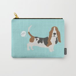 Basset Hound dog breed funny dog fart Carry-All Pouch