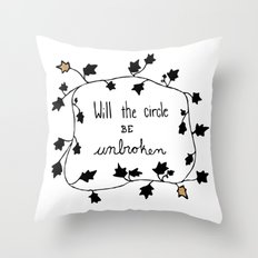 Will The Circle Be Unbroken Throw Pillow