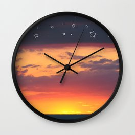 Florida Sunset - Stars Wall Clock