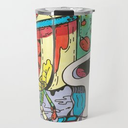 Summer Day in the Countryside Full of Happiness, Berries, Cats and Love Travel Mug
