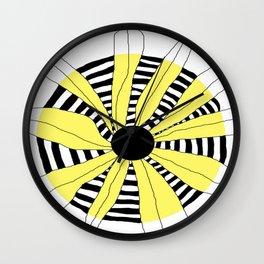 FLOWERY INA / ORIGINAL DANISH DESIGN bykazandholly Wall Clock