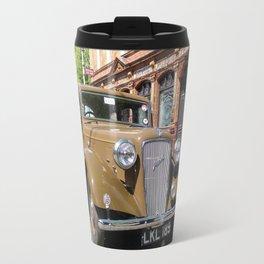 Vintage car and English Pub Travel Mug