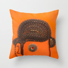 002: Clockwork Orange - 100 Hoopties Throw Pillow