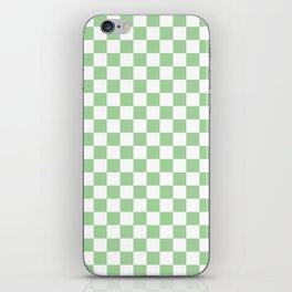 Mint Checkerboard Pattern iPhone Skin