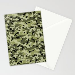 Military Camouflage Pattern - Green White Black Stationery Cards