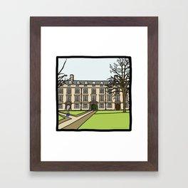 Cambridge struggles: Christ's College Framed Art Print