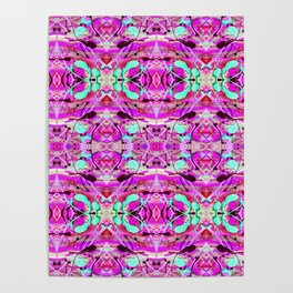 Pink Paint Splatter Print Poster