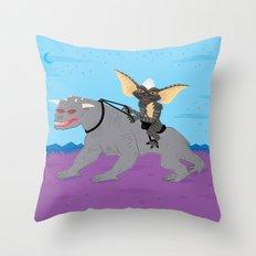 The Halloween Series - Stripe Rides Zuul Throw Pillow