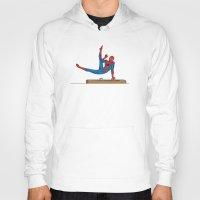 superhero Hoodies featuring Acrobatic Superhero by Fadhil Zubir