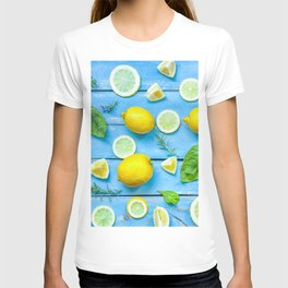 Fruits and leaves pattern (24) T-shirt
