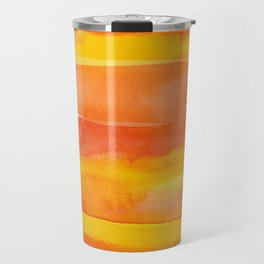 Watercolor Pattern Abstract Summer Sunrise Sky on Fire Travel Mug