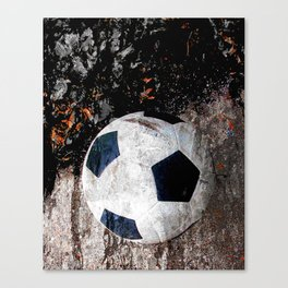 The soccer ball Canvas Print