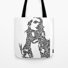 Kanji Calligraphy Art :woman's face #37 Tote Bag