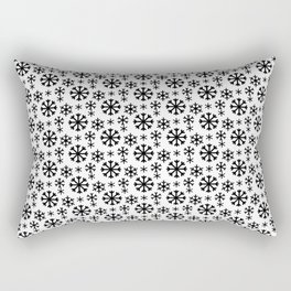 Black Snow Rectangular Pillow