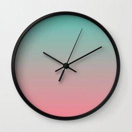 GRADIENT | AQUA + SALMON Wall Clock