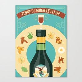 Fernet Branca the Miracle Elixir Canvas Print