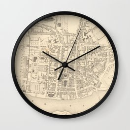 Vintage Map of Perth Scotland (1851) Wall Clock