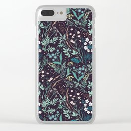 Meadow pattern. Clear iPhone Case