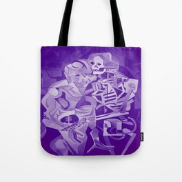 Halloween Skeleton Welcoming The Undead Tote Bag