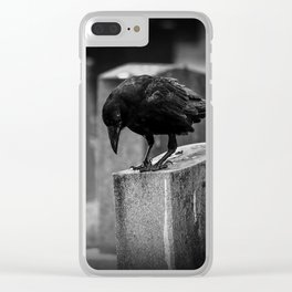 Cemetery Crow Clear iPhone Case