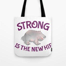 Hippo Fitness Tote Bag