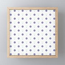 Menorah 20 Framed Mini Art Print