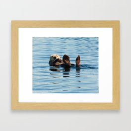 Sea Otter Framed Art Print