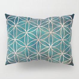 Mandala Flower of Life Rose Gold Space Stars Pillow Sham