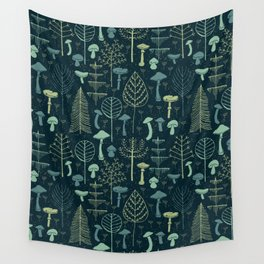 Magic Forest Green Wall Tapestry