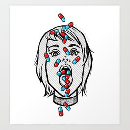 Addicted Art Print