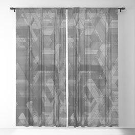 GREY MATTER Sheer Curtain