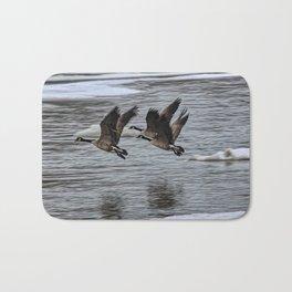 Canada Geese Flying X1 Bath Mat