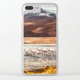 Flamingo Lake, Bolivia #society6 #buyart #homedecor Clear iPhone Case
