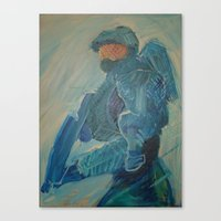 master chief Canvas Prints featuring Master Chief by s block
