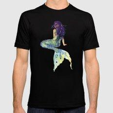 Mermaid Mens Fitted Tee Black LARGE