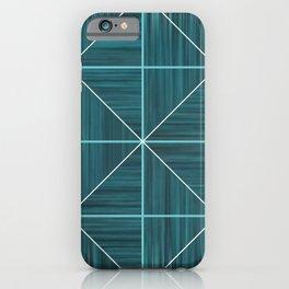 Teal Diamond iPhone Case