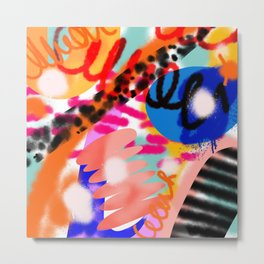 Grell 002 / A Composition Of Abstract Graffiti Shapes Metal Print