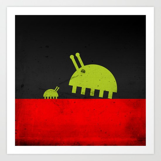 DAVID AND GOLIATH BUGS Art Print