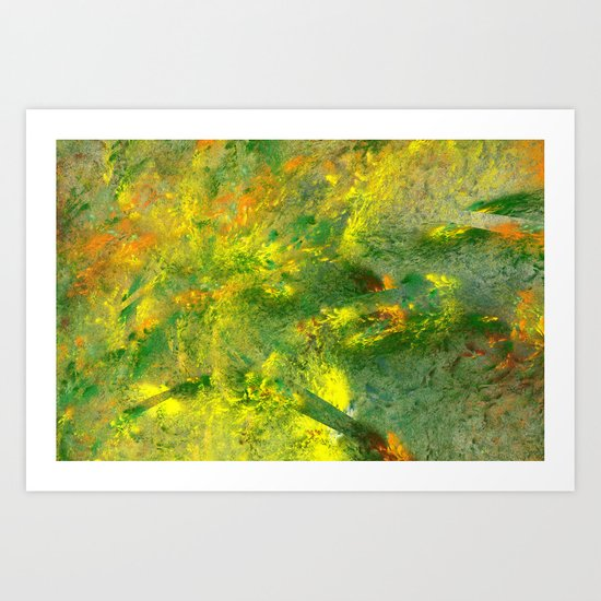 easy green and a live Art Print