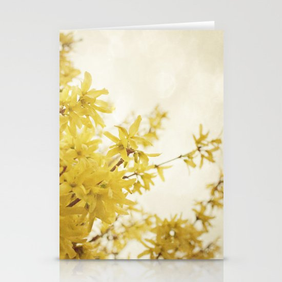 Dreamy Forsythia  Stationery Cards