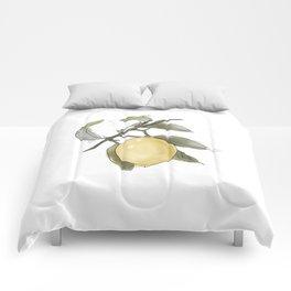 Original Lemon Watercolor Painting #Fruit Comforters