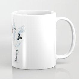 Dancing Japanese Red-crowned crane Coffee Mug