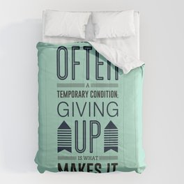 Lab No. 4 Being defeated is often a temporary condition Marilyn vos savant Quote poster Comforters