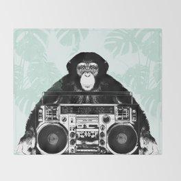Jungle Music 02 Throw Blanket