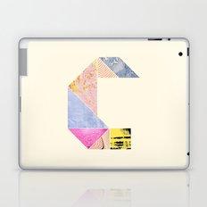 Collaged Tangram Alphabet - C Laptop & iPad Skin