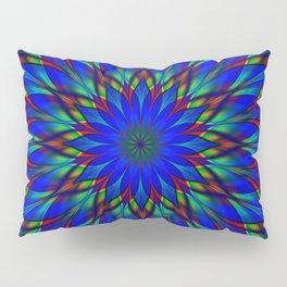 Stained glass flower mandala Pillow Sham