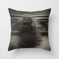 medieval Throw Pillows featuring Medieval angst by Mark Nelson