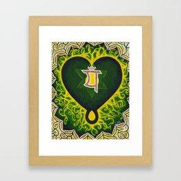 Love is Spiritual Framed Art Print
