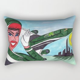Fly the Emerald Skies Rectangular Pillow