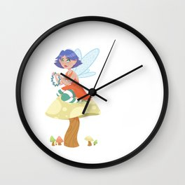 Fairy Flower Chains Wall Clock